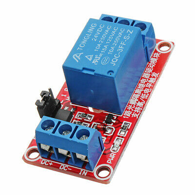 3Pcs 24V 1 Channel Level Trigger Optocoupler Relay Module For Arduino