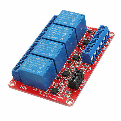 24V 4 Channel Level Trigger Optocoupler Relay Module For Arduino