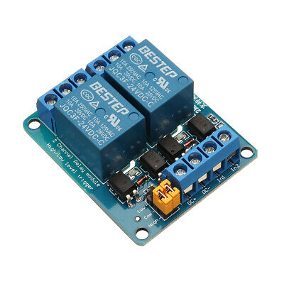 BESTEP 2 Channel 24V Relay Module High And Low Level Trigger For Auduino