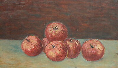 Vintage Impressionist Still Life With Apples Oil Painting