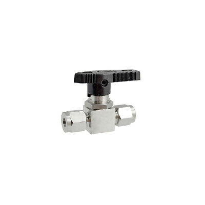 6mm Compression Lever Handle Ball Valve Fitting Double Ferrule SS304