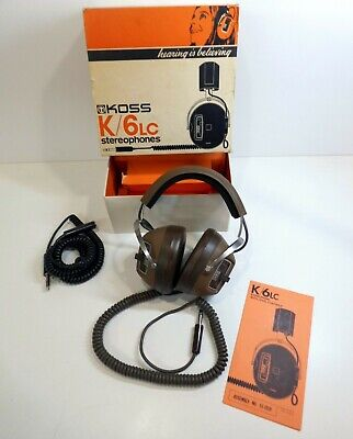 Koss K/6LC Stereophones - Vintage Headphones- Boxed Excellent