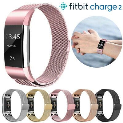 For Fitbit Charge 2 Watch Strap Wrist Band Smartwatches Milanese Stainless Steel