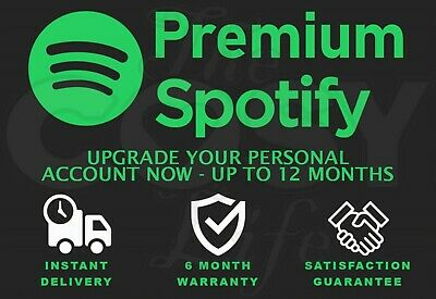Spotify Premium | Up To 12 Months Or More | Upgrade Your Own Account | Warranty