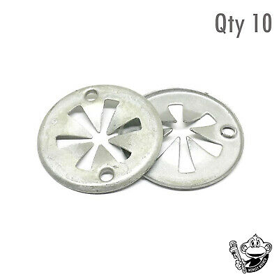 VOLKSWAGEN GOLF METAL CLAMPING UNDER TRAY LINING SPRING WASHER x10