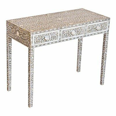 Grey Bone Inlay Wooden Modern Antique Console Table