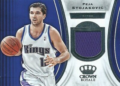 2018-19 Panini Crown Royale Peja Stojakovic Jersey Sacramento Kings NBA