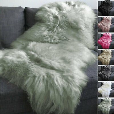 Thick Fluffy Sheepskin Rug Soft Faux Fur Shaggy Area Rugs Room Mats Large 60x100
