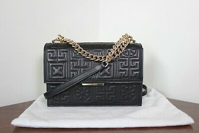 dcf341b730 VERSACE QUILTED NAPPA Leather Palazzo Empire Bag Purse Black Handbag ...