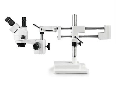 Parco 7X-45X Simul-Focal Trinocular Zoom Stereo Microscope W 0.5 Auxiliary Lens
