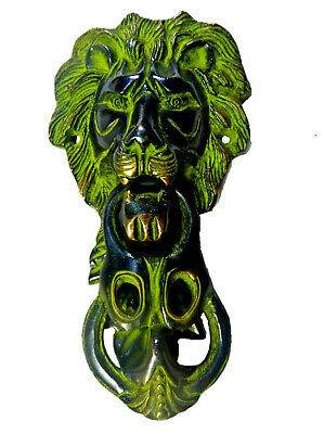 Big Lion Face Shape Vintage Antique Style Handmade Solid Brass Door Knocker Knob