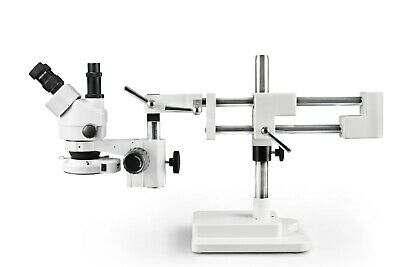 Parco 7X-45X Simul-Focal Trinocular Zoom Stereo Microscope w/144-LED Ring Light