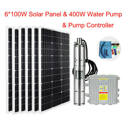 """3""""Solar Submersible Screw Irrigation Water Well Pump+200/600W Solar Panel moduel"""