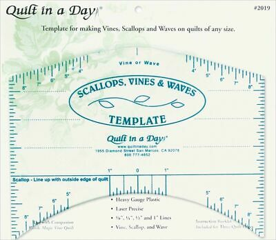 Quilt in a Day - Scallops, Vines and Waves Template - Brand New