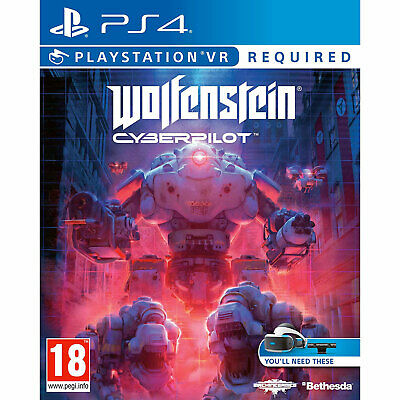 Wolfenstein Cyberpilot VR (PS4) New and Sealed - PS Playstation VR Required