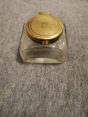 Antique inkwell with inscription