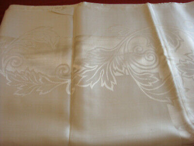 """Vintage Double Damask Tablecloth 64"""" x 102"""" and 12 Napkins 20"""" Japan Linens"""