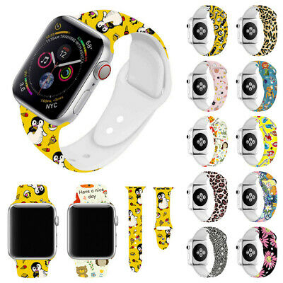 Silicon Sport Watch Band Strap for Apple Watch iWatch Series 5 4 3 40 44mm 42mm