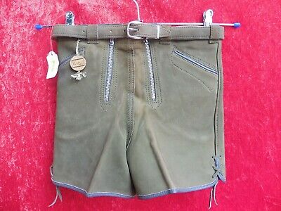 High Quality Leather Pants, Size 4/104, Made in Germany, Shorts, Children