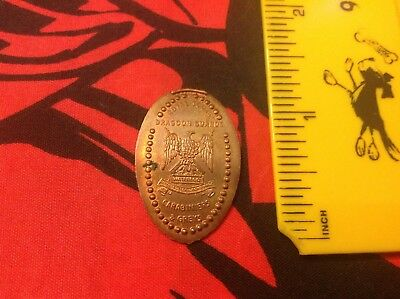Royal Scots Dragoon Guards Scotland Pressed Penny Elongated Coin One Pence - UK