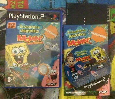 Spongebob Squarepants Movin with Friends - PlayStation 2 PS2 Game With Manual