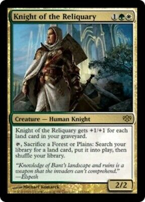 Knight of the Reliquary - Conflux - Moderate Play, English MTG Magic FLAT RATE S