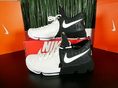 online store d34c4 2934d NIKE AIR ZOOM KD 9 BHM Mens Basketball Shoes White Black 860637-100 Size  11-11.5