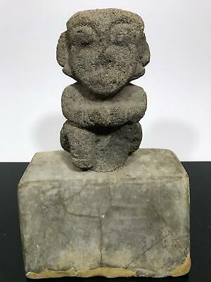 Ancient Pre-Columbian Costa Rican ? Carved Stone Artifact Art Sculpture Figure
