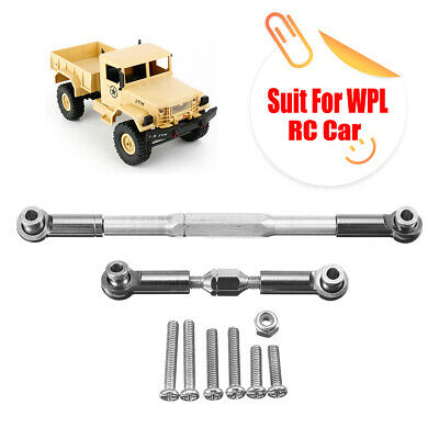 Upgrade Metal Servo Steering Pull Rod Spare Parts For WPL 1/16 RC Military Truck