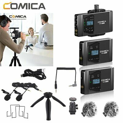 COMICA CVM-WS60 COMBO Wireless Microphone System Lavalier Transmitter Receiver