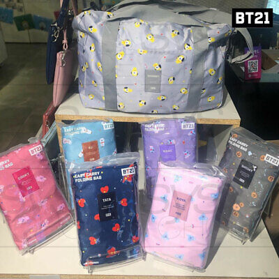 BTS BT21 Official Authentic Easy Carry Folding Bag By Monopoly 440x320x160mm