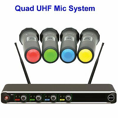 Chord NU4 4 Quad UHF Wireless Handheld Rack Mount Microphone System