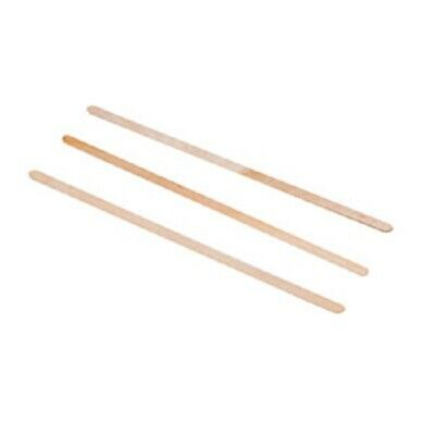 """100 7.5"""" Length Wood Wooden Coffee Stirrers, Craft Sticks Stir Rods Rounded Ends"""