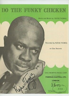 RUFUS THOMAS signed AUTOGRAPH SHEET MUSIC  w PSA/DNA COA
