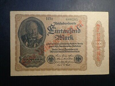 German.1922 1 Millon Mark Reichsbanknote -:- In Nice Circulated Condition.