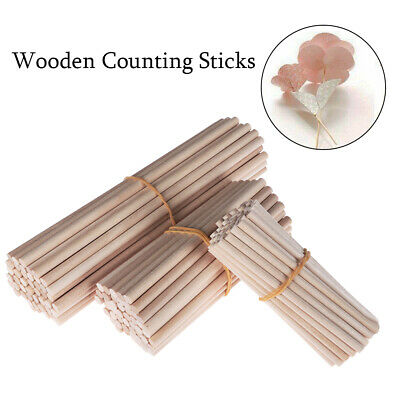 50/100pcs counting stick Premium Round Wooden Rod Durable Wooden Dowel DIY Craft