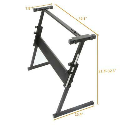 New Z-type Keyboard Piano Rack Stand Black Adjustable for Electric Keyboard