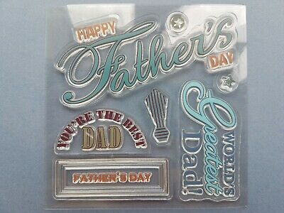 Father's Day Silicon Rubber Stamp Set - Block not included