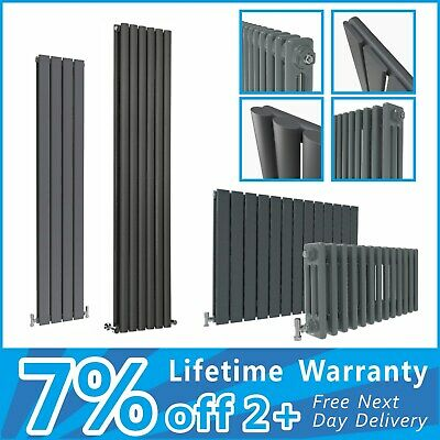 Anthracite Designer Radiator Flat Panel Oval Column Traditional 2 3 Column Rads