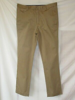 "RIVER ISLAND Skinny Trousers Chinos Tan Beige Sand Size Waist 32 "" Inch Regular"