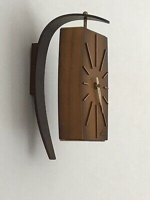 Haid German Wall Electric Clock Vintage Retro Wood Effect Battery Operated