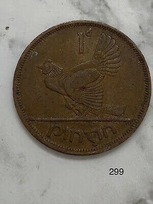 1950 Ireland One Penny 1 d #299