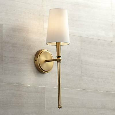 "Mid Century Modern Wall Light Brass 21"" Sconce Fixture for Bathroom Bedroom"