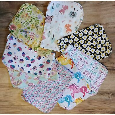 baby girl contoured flannel girl burp cloths cupcakes  butterflies  daisies  woo