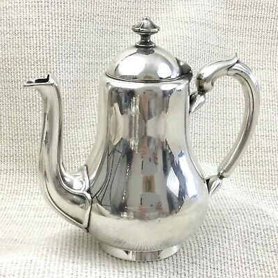 Christofle Coffee Pot Jug Silver Plated Antique French Small Bachelor Breakfast