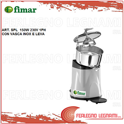Juicer with Tub and Stainless Steel Lever 150W 230V 1PH Fimar Spm