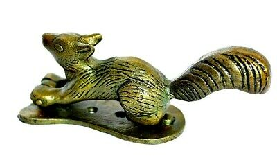 Squirrel Design Antique Vintage Style Handmade Brass Door Knocker Pull Home Deco