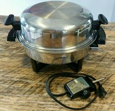 Townecraft Oil Core Electric Skillet with Dome Lid Miss Electra 17450