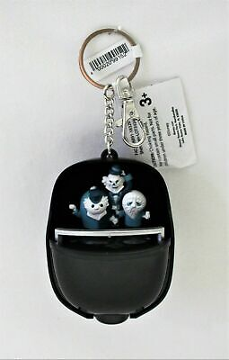 Disney Haunted Mansion Light Up Doom Buggy Hitchhiking Ghosts Keychain