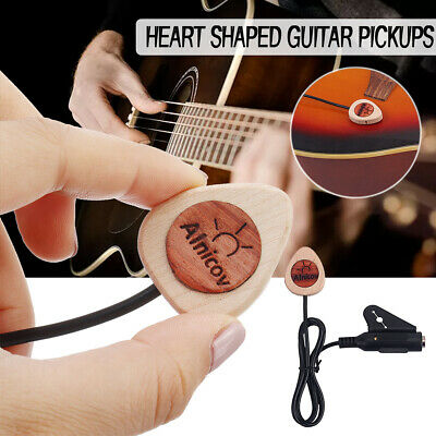 Piezo Transducer Guitar Pickup Wood For Acoustic Guitar Mandolin Ukulele Banjo